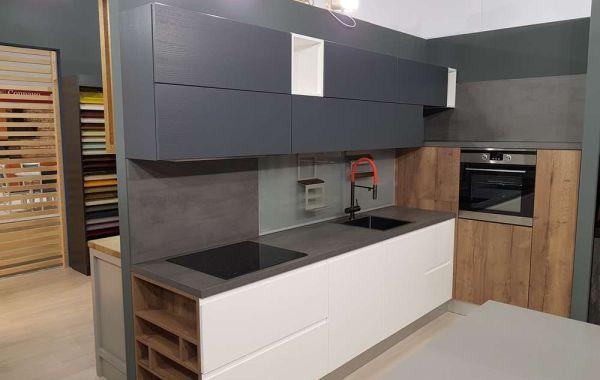 Кухня из шпона ясеня Т222 «Норд»