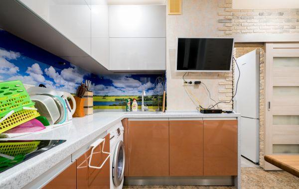 Кухня ОС2124 ПЛТ ПОСТ-5 Серый перламутр/Медь перламутр