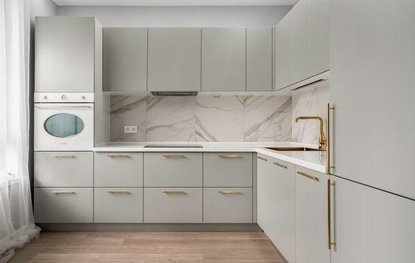 Кухня АМ349 основа МДФ - покрытие эмаль матовая