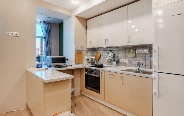 Кухня ТШ3150 ПОСТ 5 Белая лилия/Песочный
