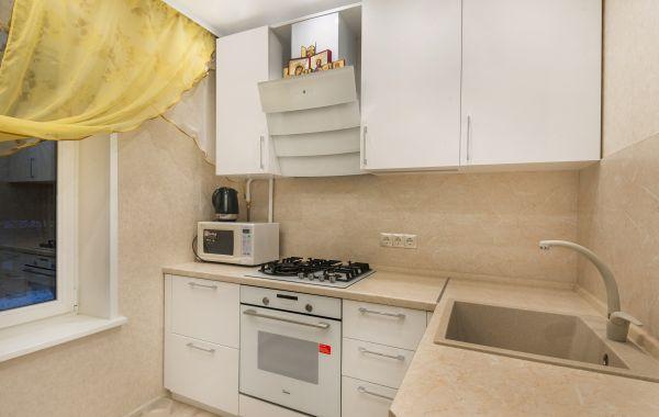 Кухня ВП884 ПЛТ Пост-5 Белый кристальный GLS