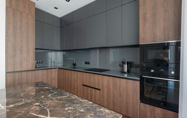 Кухня ИШ6190 Тимбер Кестен Верт (ДСП) / Система Пвх Маренго (МДФ)