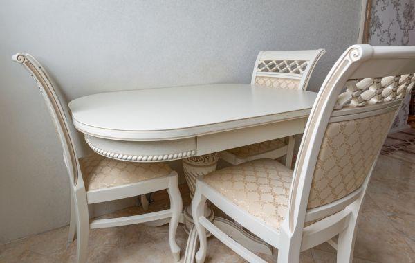 Стол и стулья БЧ1011 бежевые