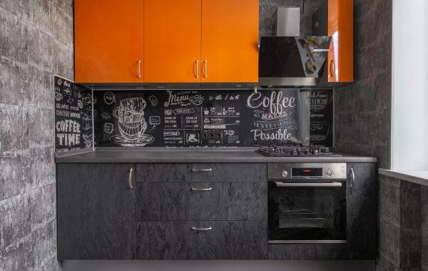 Кухня ПМ243 Пластик Пост 5 Апельсин/Синкрон Престо