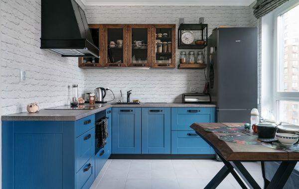 Кухня МИ508 Массив Ясеня Т501 цв.NCS S 6020-R90B