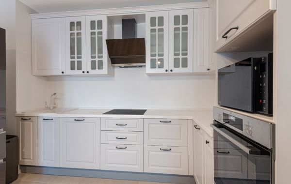 Кухня БОКС113 Лонгфорд RAL 9003 мат/Лонгфорд RAL 7047 мат