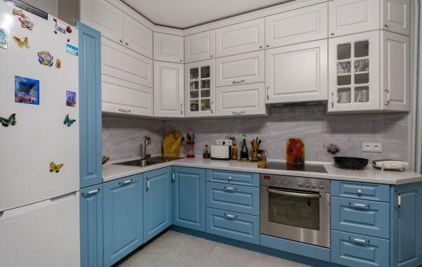 Кухня СУ814 Лонгфорд Эмаль Матовая RAL9016, Kemilac K138