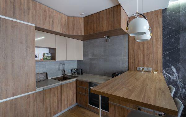 Кухня МШ2184 ДСП Синкрон Бергамо/Пост-5 Латте