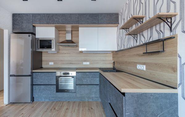 Кухня АМ468 Синкрон Венато графит