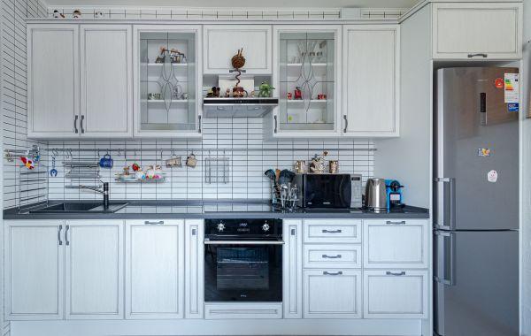 Кухня КШ5244 Леон ПП Бьянко серая