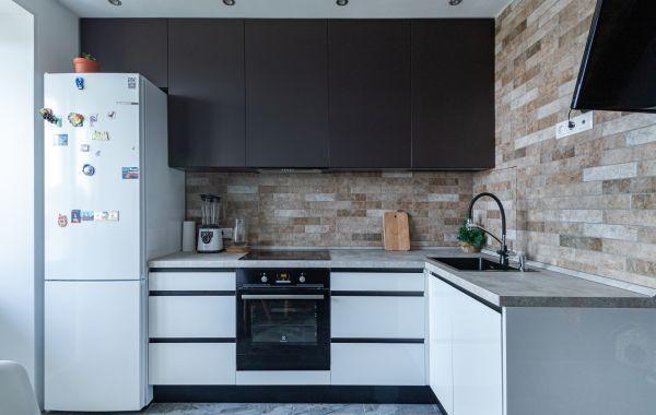 Кухня НК172 Акрил-5 Белый, Пост-АГТ Супрамат, Биттер Супрамат