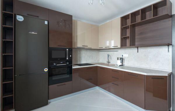 Кухня БР223 КР ПВХ Латте