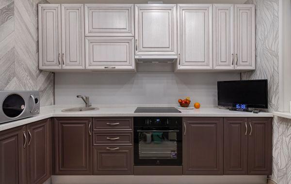 Кухня ПП400 Массив ясеня Т524/135 и Т524/121