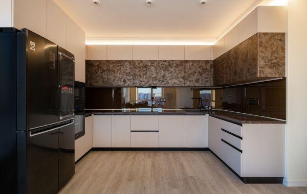Кухня ВШ843 Акрил мат Тальк/Смарт Железо