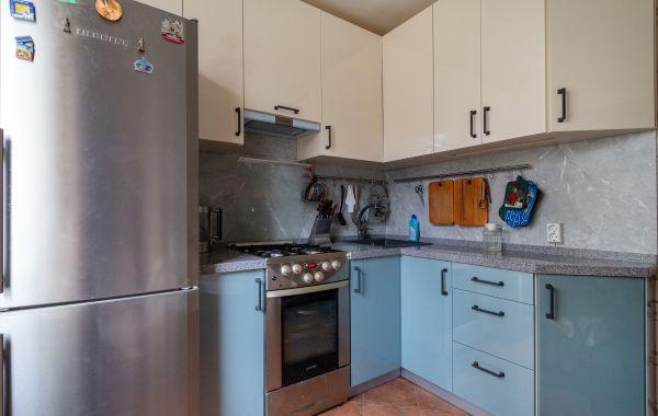 Кухня ОС2226 Пост 5 Ваниль F1192 GLS/Бирюзовый перламутр F6533