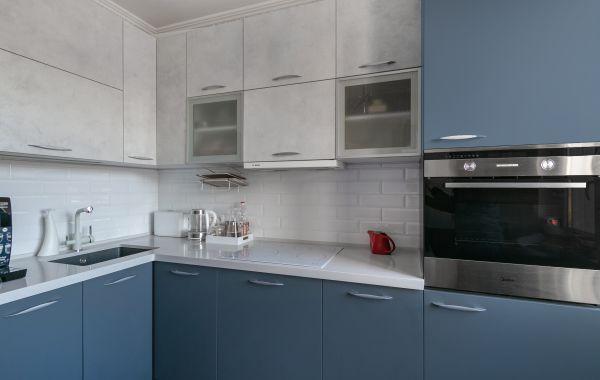 Кухня МШ2169 Смарт Платина/Феникс Темно-серый