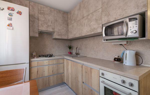 Кухня МШ2198 ДСП Тимбер Галифакс/Пост Смарт Никель