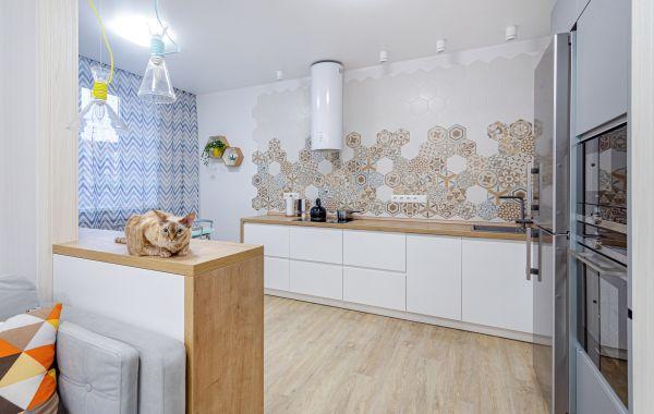 Кухня ДШ4239 Пост-АГТ Супрамат Дымчатый