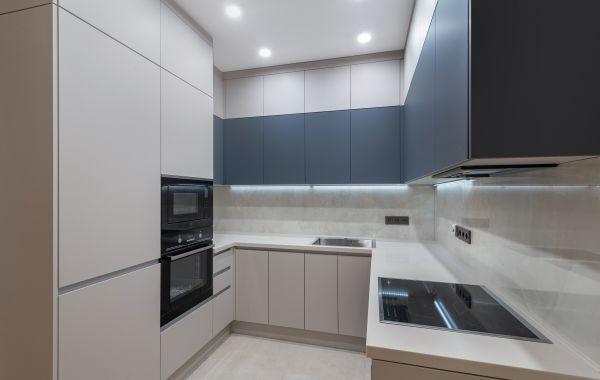 Кухня АМ395 Феникс Зеленый Атрес Акрил Тальк