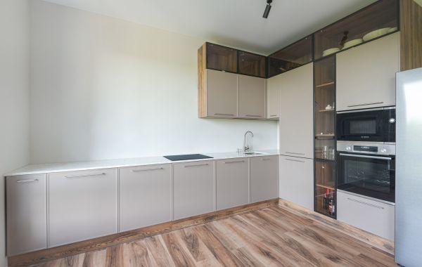 Кухня РУ69 МДФ в пленке ПВХ, фасад Хаген, цвет. А-1 рамка - терра черная