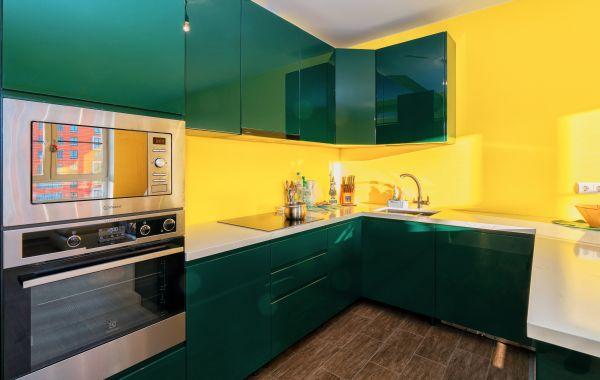 Кухня ЗОВ заказ ПИ785  Эмаль глянец RAL6005