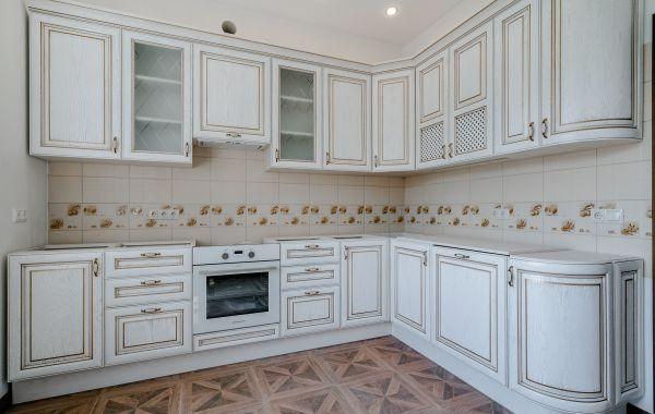 Кухня ПИ958 Массив Дуба Платина золото