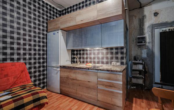 Кухня БА965 Тимбер Галифакс/ПОСТ-АВ Металл Серебро