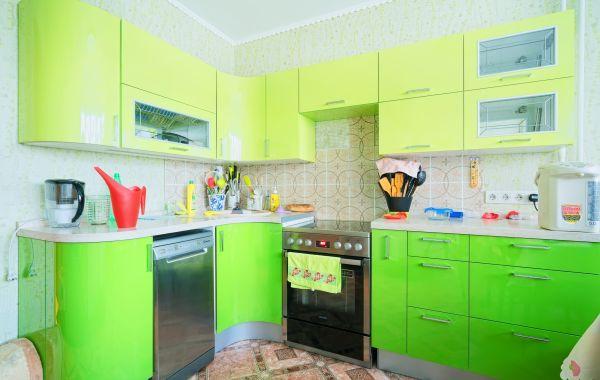 Кухни ЗОВ заказ ВП618 Пост 5 №1-Лайм, №2-Зеленый