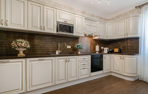 Кухня ВП728 Париж 2 (Патина Золото)