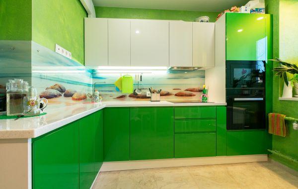 Кухня ЗОВ заказ СУ359 МДФ Эмаль RAL 9003/AMZ №767
